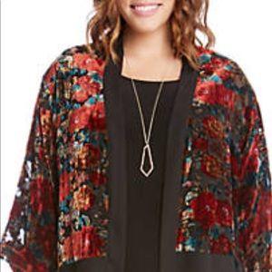 Karen Kane Summer Roses Kimono Size 2X NWT